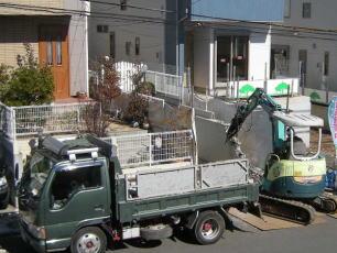 コンクリート塀撤去